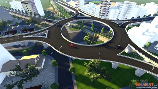 Phối cảnh tổng thể dự án Nút giao Ngọc Hội tại sân bay Nha Trang do Tập đoàn Phúc Sơn làm chủ đầu tư.