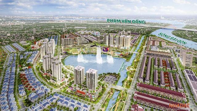 Phối cảnh dự án Vạn Phúc City có tổng mức đầu tư 2 tỷ USD của Vạn Phúc Group.