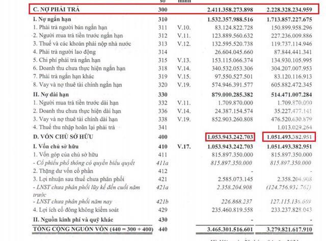 Nguồn: BCTC Hợp nhất quý 1/2021 của Apax Holdings.