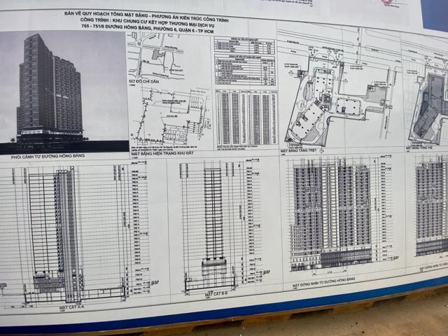 """Bảng """"Pháp lý dự án đảm bảo"""" được đặt ngay cổng dự án"""