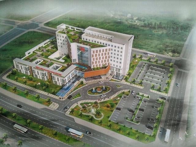 Phối cảnh dự án Bệnh viện Đa khoa Nam Cần Thơ do Trường ĐH Nam Cần Thơ làm chủ đầu tư.