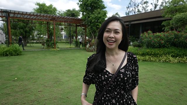 Không gian sống xanh hiện đại và hạ tầng kết nối thuận tiện của Aqua City tạo ấn tượng mạnh với chị Đỗ Hoàng Phương ngay trong lần đầu trải nghiệm dự án. Ảnh: Novaland.