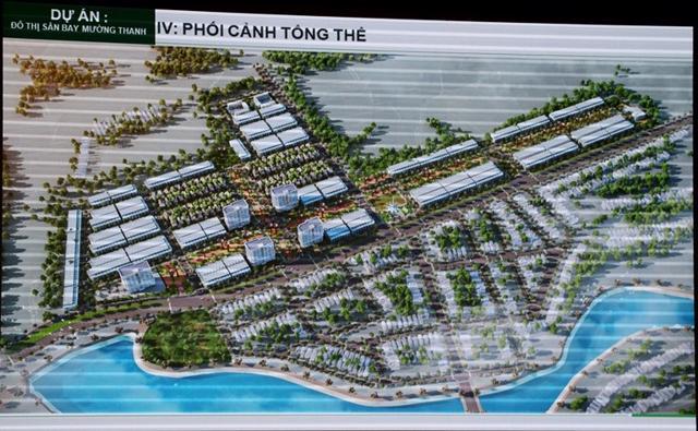 Phối cảnh tổng thể dự án KĐT sân bay Mường Thanh. Ảnh: UBND tỉnh Điện Biên.