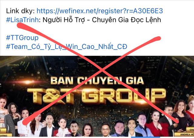 Thương hiệu T&T Group bị giả mạo trên nhiều facebook có nội dung về tiền ảo.