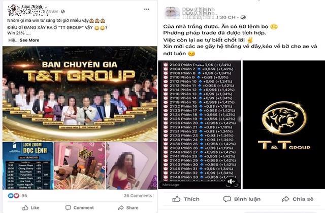 Một số tài khoản mạng xã hội, sàn giao dịch tiền ảo giả mạo logo và thương hiệu của T&T Group.