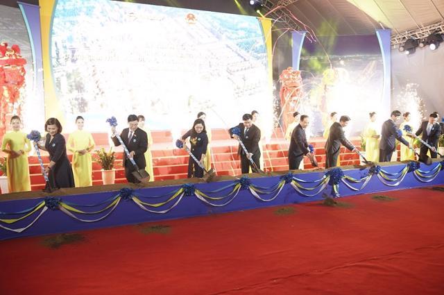 Lễ khởi công dự án Khu đô thị Quảng trường biển Sầm Sơn vào tháng 10/2020.