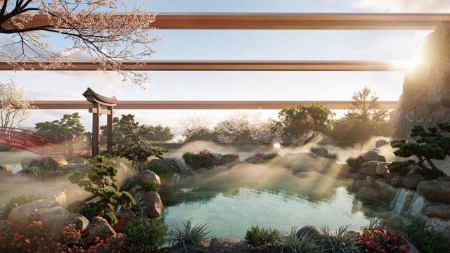 """Cận cảnh tổ hợp Onsen 1.000 tỷ trong Ecopark, phát triển bởi 3 """"ông Lớn"""" Nhật Bản - Ảnh 3"""