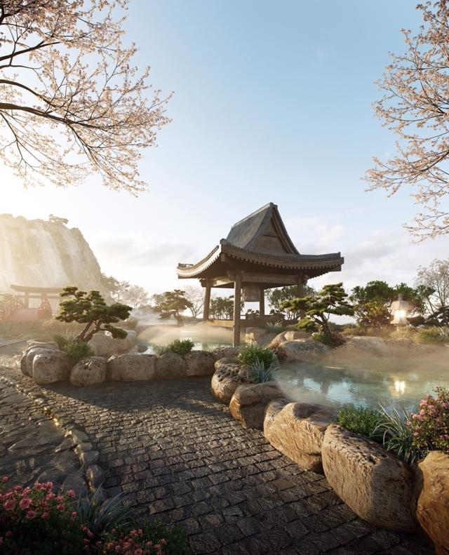 """Cận cảnh tổ hợp Onsen 1.000 tỷ trong Ecopark, phát triển bởi 3 """"ông Lớn"""" Nhật Bản - Ảnh 4"""