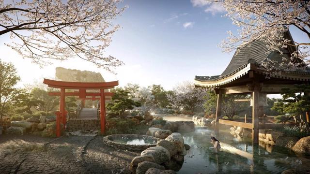 """Cận cảnh tổ hợp Onsen 1.000 tỷ trong Ecopark, phát triển bởi 3 """"ông Lớn"""" Nhật Bản - Ảnh 5"""