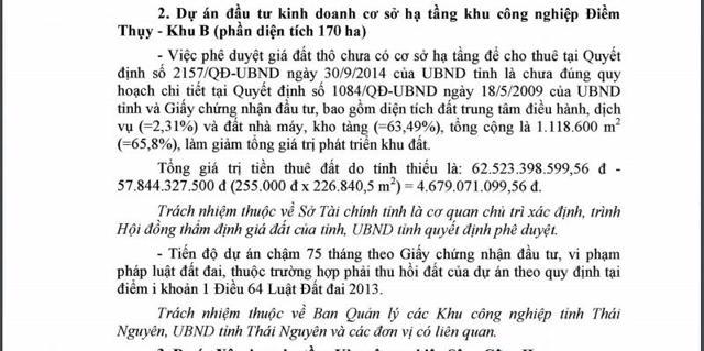 TTCP đề nghị làm rõ dấu hiệu vi phạm pháp luật của Công ty Cổ phần đầu tư APEC Thái Nguyên - Ảnh 3