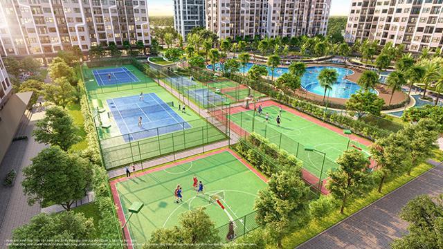 Hệ thống sân tập liên hoàn mang đến cuộc sống khỏe và năng động cho cư dân The Miami.