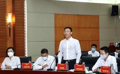 Ông Phạm Hùng – chủ tịch Sun Group vùng Đông Bắc phát biểu tại buổi làm việc. (Ảnh: Báo Hải Phòng).