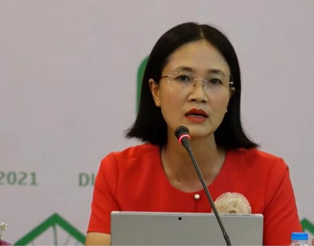 Bà Đỗ Thị Thu Hằng – Giám đốc bộ phận nghiên cứu và tư vấn Savills Hà Nội phát biểu tại diễn đàn.