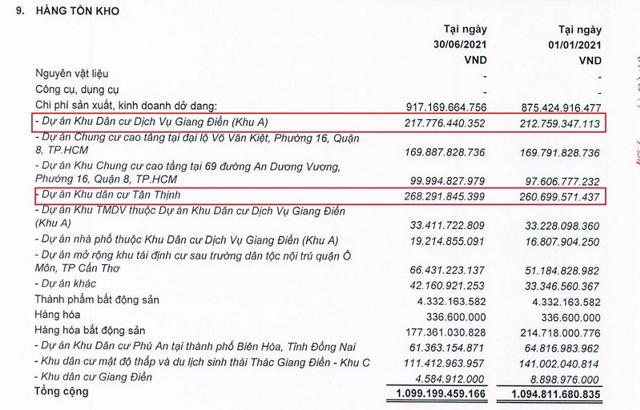 Nợ dài hạn của LDG Group tăng đột biến hơn 150%, lãi vỏn vẹn chỉ 1 tỷ đồng trong 6 tháng đầu năm 2021 - Ảnh 2