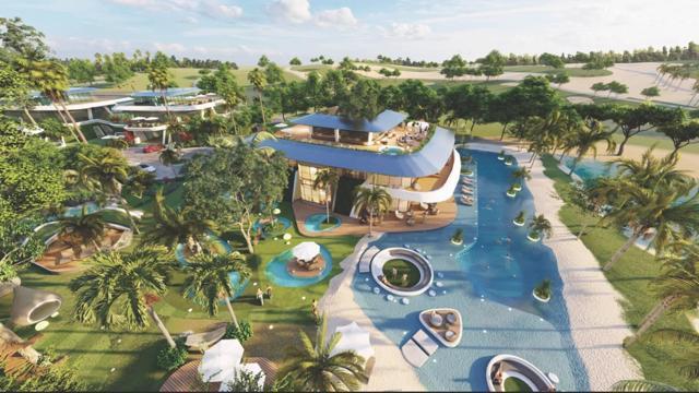 """Một trong số các Super VIP Villas tại khu Golf Villas thuộc dự án Sunshine Heritage Mũi Né (Phan Thiết) của Sunshine Group - tuyệt tác """"Resort in Resort"""" nằm rất gần sân Golf 36 hố tiêu chuẩn thi đấu quốc tế với thiết kế Link - Style đầy thử thách."""