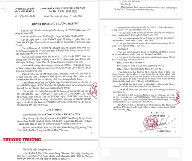 Quyết định số 506/QĐ-UBND ngày 12/3/2020 của tỉnh Khánh Hoàn. Ảnh Thương Trường