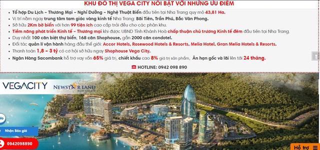 Nhiều thông tin cho thấy gần 2.000 căn hộ khách sạn tại Vega City Nha Trang là condotel.