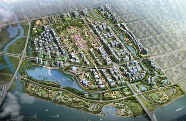 Phối cảnh dự án khu đô thị mới Bắc sông Cấm.