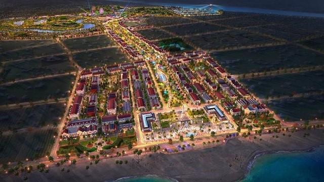 Phối cảnh dự án Quảng trường biển và Tổ hợp đô thị du lịch sinh thái, nghỉ dưỡng, vui chơi giải trí cao cấp biển Sầm Sơn.