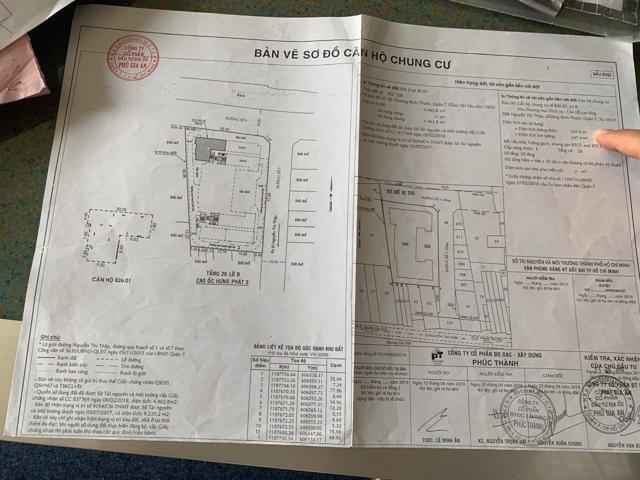 Sau khi xây dựng xong, Phú Gia An thuê Công ty Phúc Thành vẽ lại bản đồ căn hộ để bàn giao cho khách hàng, bao gồm cả phần không có trong thiết kế.