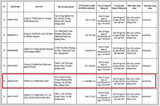 Điểm mặt những 'đại gia' bất động sản nợ thuế trăm tỷ tại Quảng Nam - Ảnh 7
