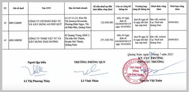 Điểm mặt những 'đại gia' bất động sản nợ thuế trăm tỷ tại Quảng Nam - Ảnh 8