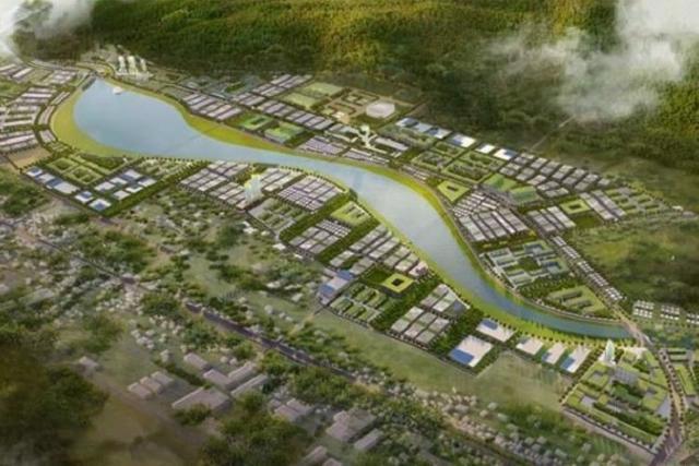 Phối cảnh dự án KĐT Long Vân 2 do liên danh HANO – VID Làm chủ đầu tư.