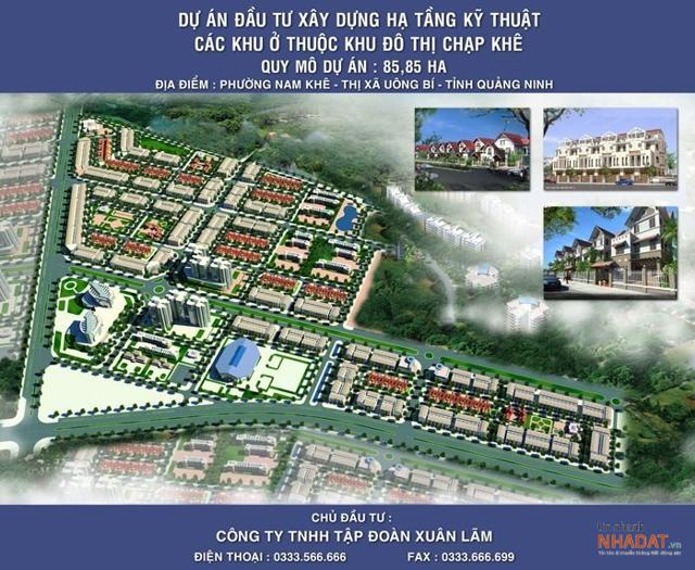 Dự án khu đô thị mới Chạp Khê do Tập đoàn Xuân Lãm làm chủ đầu tư.