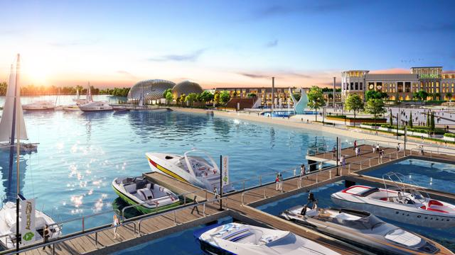 Giới đầu tư nhận định tiềm năng tăng giá của dự án được hưởng lợi trực tiếp từ tổ hợp quảng trường- bến du thuyền đẳng cấp