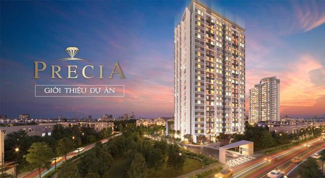 Dự án Precia có giá bán cao nhất, giao động từ 60 – 68 triệu đồng/m2.