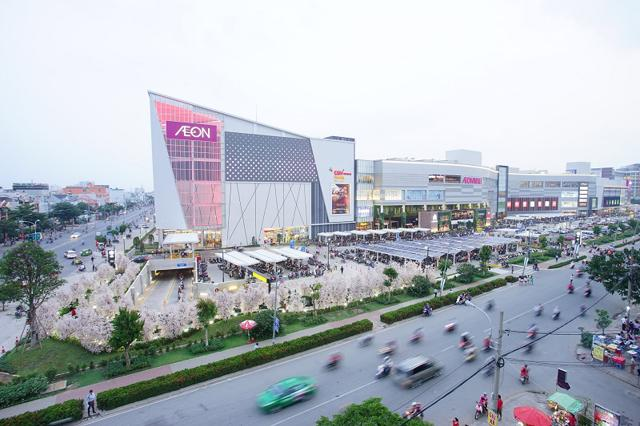 Aeon Mall Bình Tân đẩy giá bất động sản Khu Tên Lửa gia tăng. Ảnh: Aeon Mall