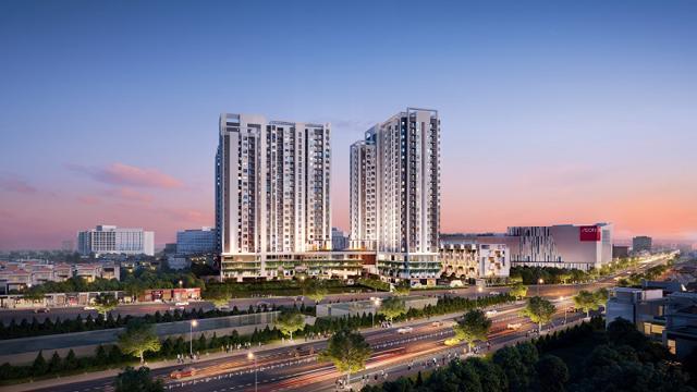 Phối cảnh dự án Moonlight Centre Point – Căn hộ trung tâm khu Tên Lửa vừa được giới thiệu ra thị trường. Ảnh: Hưng Thịnh Land