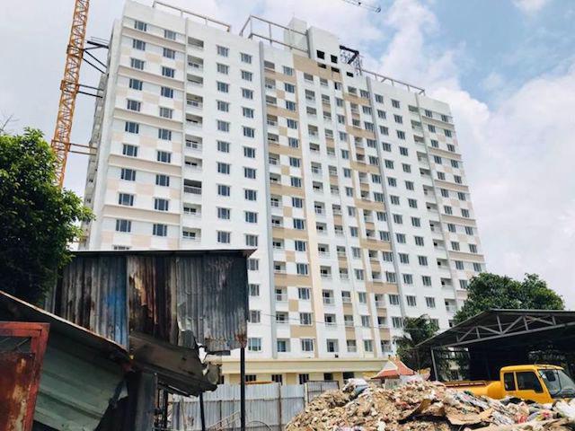 Một dự án nhà ở xã hội tại quận Tân Bình, TP Hồ Chí Minh.