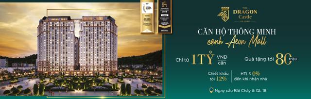 Sở hữu căn hộ The Dragon Castle Hạ Long, khách hàng sẽ nhận được quà tặng lên đến 80 triệu đồng, chiết khấu tới 12% và hỗ trợ lãi suất 0% đến khi nhận nhà