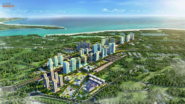Phối cảnh dự án KĐT mới Bắc Vũng Tàu.