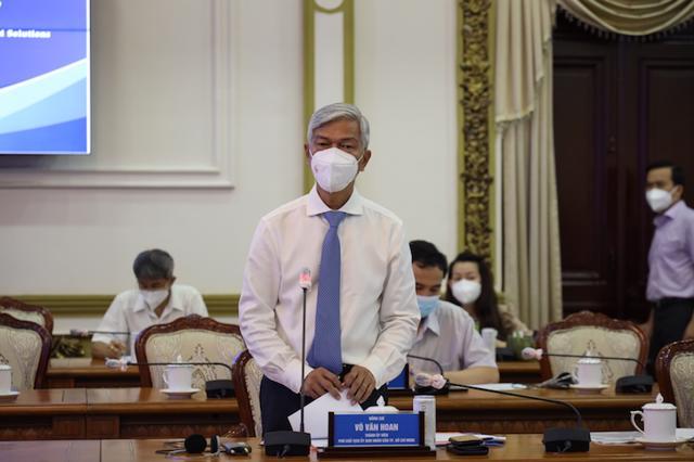 Phó Chủ tịch UBND TP Hồ Chí Minh Võ Văn Hoan phát biểu. (Ảnh: TTBC)