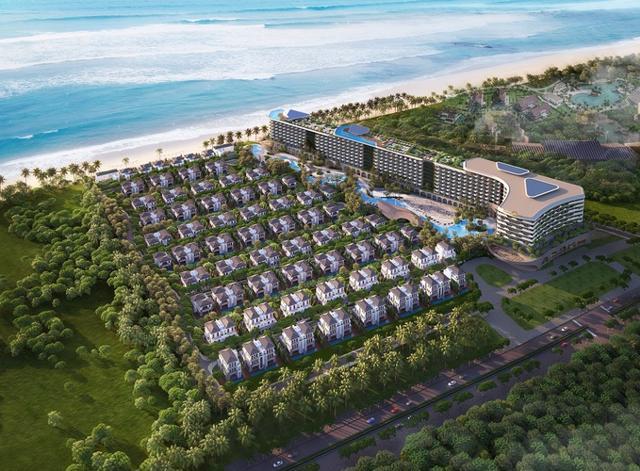 Phối cảnh tổng thể dự án Grand Mercure Hoi An do Công ty Xuân Phú Hải làm chủ đầu tư.