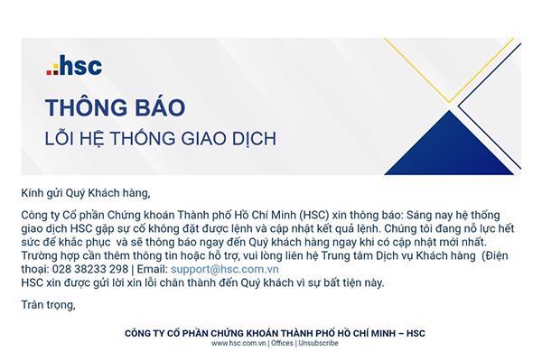 Hệ thống giao dịch của Công ty Chứng khoán TP Hồ Chí Minh HSC tê liệt, nhà đầu tư phẫn nộ - Ảnh 1
