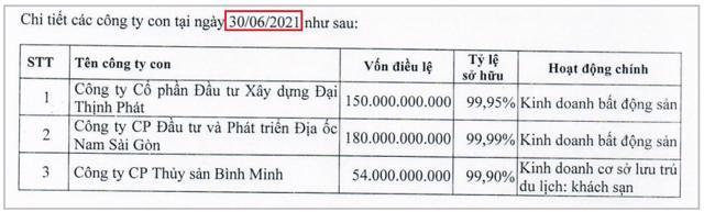 Mới nhất là tại BCTC đã được soát xét 6 tháng đầu năm 2021 của LDG vẫn không thấy cái tên Hải Duy xuất hiện trong danh sách công ty con.