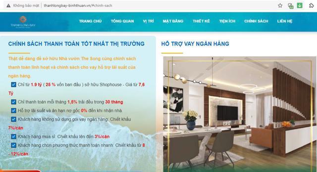Shophouse tại dự án Thanh Long Bay chiết khấu 15%.