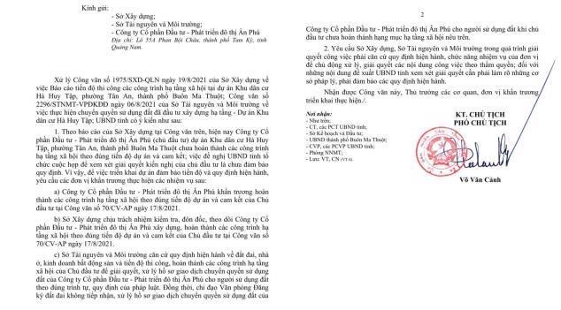 Lãnh đạo tỉnh Đắk Lắk yêu cầu không xử lý hồ sơ giao dịch đất nền tại khu dân cư Hà Huy Tập.