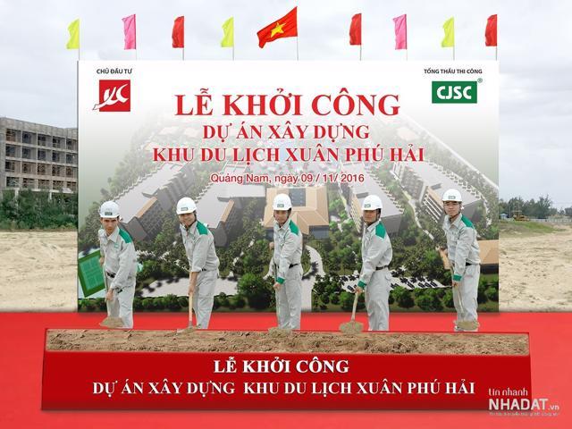 Lễ khởi công dự án Khu du lịch Xuân Phú Hải được diễn ra vào ngày 9/11/2016.