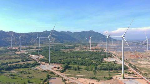 Nhà máy điện gió 7A ở Ninh Thuận được công nhận vận hành thương mại (COD) trong tháng 8/2021. Ảnh: EVN