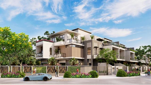 Nhà phố phong cách hiện đại sang trọng tại đô thị đảo Phượng Hoàng