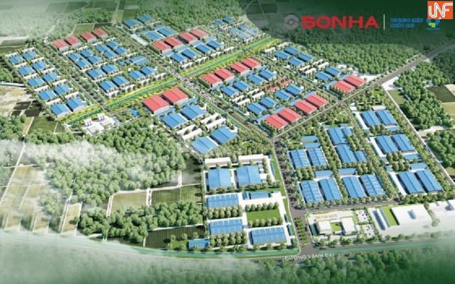 Phối cảnh khu công nghiệp Tam Dương của Sơn Hà.