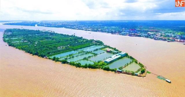 Khu vực dự kiến xây dựng dự ánResort TMS Cồn Sơn.