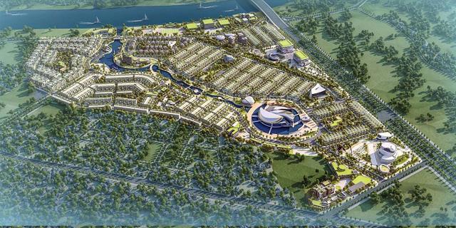 Phối cảnh dự án Khu đô thị dịch vụ tại phường 5 và xã Hướng Thọ Phú. (Ảnh: longan.gov.vn).