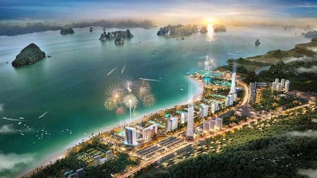 Phối cảnh dự án Sonasea Vân Đồn Harbor City (Ảnh: CEO Group).
