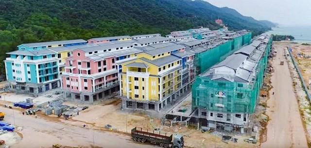 Một phần dự án Sonasea Vân Đồn Harbour City tại Quảng Ninh.