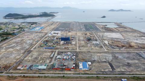Khu vực xây dựng Nhà máy Nhiệt điện BOT Vân Phong 1 thuộc xã Ninh Phước, thị xã Ninh Hòa, tỉnh Khánh Hòa. Ảnh: NLĐ